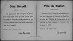 Stad Hasselt, affiche van 26 november 1918 - aankondiging troepen met klaroengeschal, beiaard speelt tijdens intrede.
