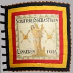 Vlag Schutterij St Sebastiaan Lanaken 1914