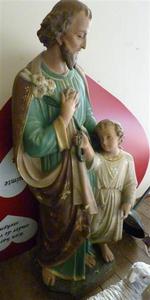 Beeld H. Jozef met kindje Jezus