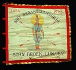Vlag van schuttersgilde Sint-Sebastiaan Schalbroek 1952