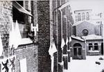 Foto: straatversiering: binnenkoer Minderbroedersklooster (Virga Jessefeesten, Hasselt, 1947)