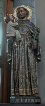 Heilige Antonius van Padua op offerblok