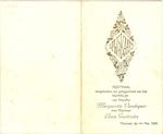 Menukaart huwelijk Margueritte Vandegaer - Louis Guelinckx