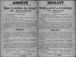 Affiche van 1 januari 1919 - regeling hoe vreemdelingen zich moeten aanmelden en identiteitsboekje moeten vragen.