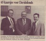Krantenknipsel mbt. het 65-jarig bestaan van de Davidsfondsafdelingen van Alsemberg en Sint-Genesius-Rode