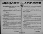 Hasselt, affiche van 22 november 1918 - regels inzake vervaardiging, invoer en handel in alcohol.