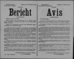 Hasselt, affiche van 7 februari 1919 - alle inrichtingen, voorraden en krijgsmateriaal van de Duitsers dienen aan het bezettingsleger geleverd.