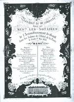 Menukaart banket notarissen Gent