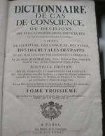 Dictionnaire de cas de conscience 1736