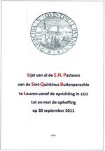 Lijst van de namen van de pastoors van de Sint Kwintenparochie