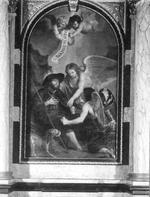 H. Rochus met twee engelen