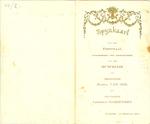 Menukaart huwelijk Maria Van Mol - Leopold Marievoet