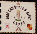 Vlag van schuttersgilde Sint-Lambertus Laren 1979