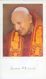 Bidprent paus Joannes XXIII.
