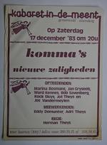 Affiche voor het kabaret 'Komma's nieuwe zaligheden' in 1983