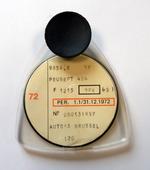 Vignet verkeersbelasting 1972