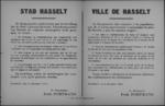 Stad Hasselt, affiche van 6 december 1918 - openingsuren herbergen, verbod op verkeer na 23 uur.