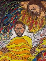 Pater Damiaan op zijn sterfbed