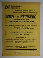 Affiche van de boeken- en posterbeurs van het Davidsfonds Alsemberg