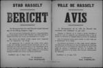 Stad Hasselt, affiche van 10 maart 1919 - inrichting korps van vervoer per automobiel.
