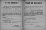 Stad Hasselt, affiche van 11 januari 1919 - oproep om het bezit van Duitse marken te melden.