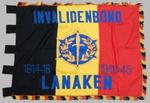 Driekleur met opschrift van invalidenbond Lanaken