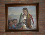 Verschijning van de Heilige Barbara aan drie mijnwerkers