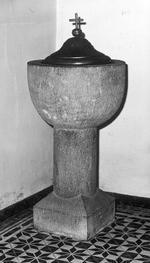 arduinen doopvont met messing vat en deksel