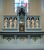 Zes heiligenbeelden