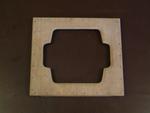Deksel met symmetrische enveloppe sparing