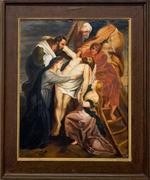Schilderij kruisweg dertiende de statie