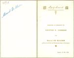 Menukaart plechtige communie Marcel De Blaiser