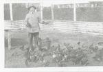 De tuinman en zijn kippen van het voormalige Gesticht te Rekem