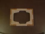 Deksel van schepraam met asymmetrische enveloppesparing