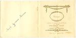 Menukaart huwelijk Philomena Adam - Louis De Ridder