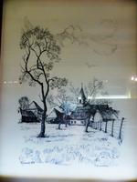 Pentekening Dorpszicht Mazenzele
