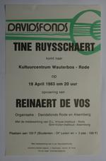 Affiche voor de opvoering van 'Reinaert de vos' door Tine Ruysschaert in 1983