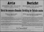 Brussel, affiche van 26 april 1919 - inleveren van Duits geld.
