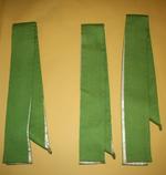 Drie groene stola's