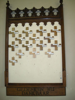 gedachtenisbord voor overleden
