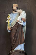 Beeld van H. Jozef met kind Jezus
