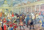 39. Keizer Karel en zijn zoon Filip II te Antwerpen