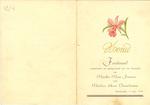 Menukaart huwelijk Mina Fransen - Henri Vorsselmans
