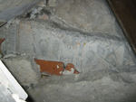 grafsteenfragment met afbeelding en tekst