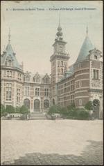 6. - Environs de Saint Trond. - Château d'Ordange (Cour d'Honneur).