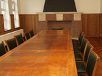 Houten bureautafel