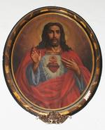 De heilige harten van Christus en Maria