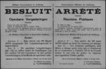 Hasselt, affiche van 16 juni 1919 - vrij plaatsvinden van openbare bijeenkomsten.