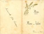 Menukaart huwelijk Maria - Hubert