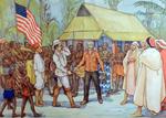 62. Stanley ontmoet Livingstone aan het Tanganikameer